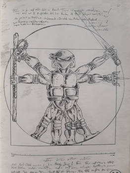 Vitruvian Teenage Mutant Ninja Turtles