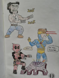 Wolverine, Cyclops and Deadpool
