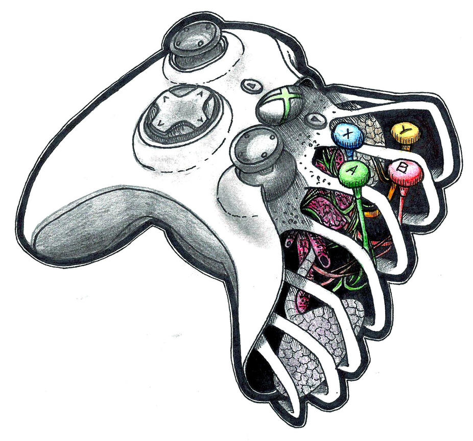 Xbox Live Drawing : Xbox pad by patsurikku on deviantart