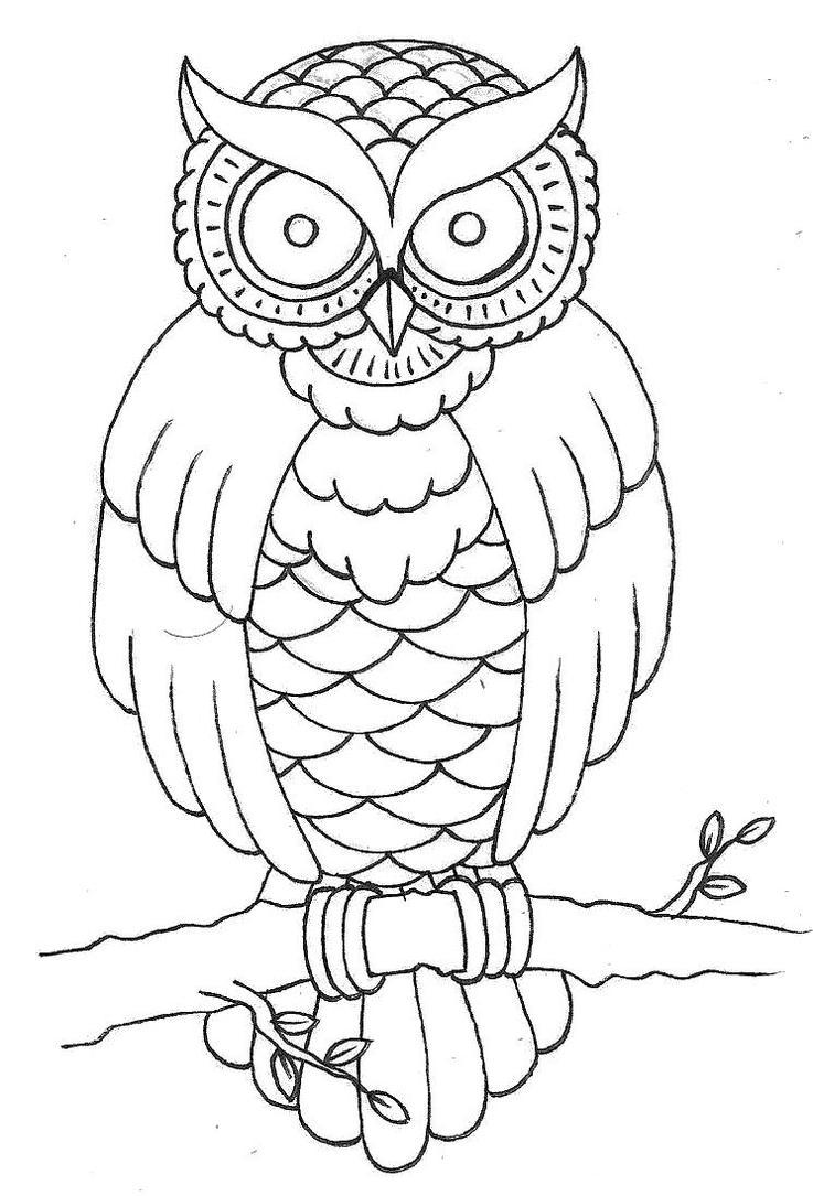 Out Line Art Design : Traditional owl design wip by patsurikku on deviantart