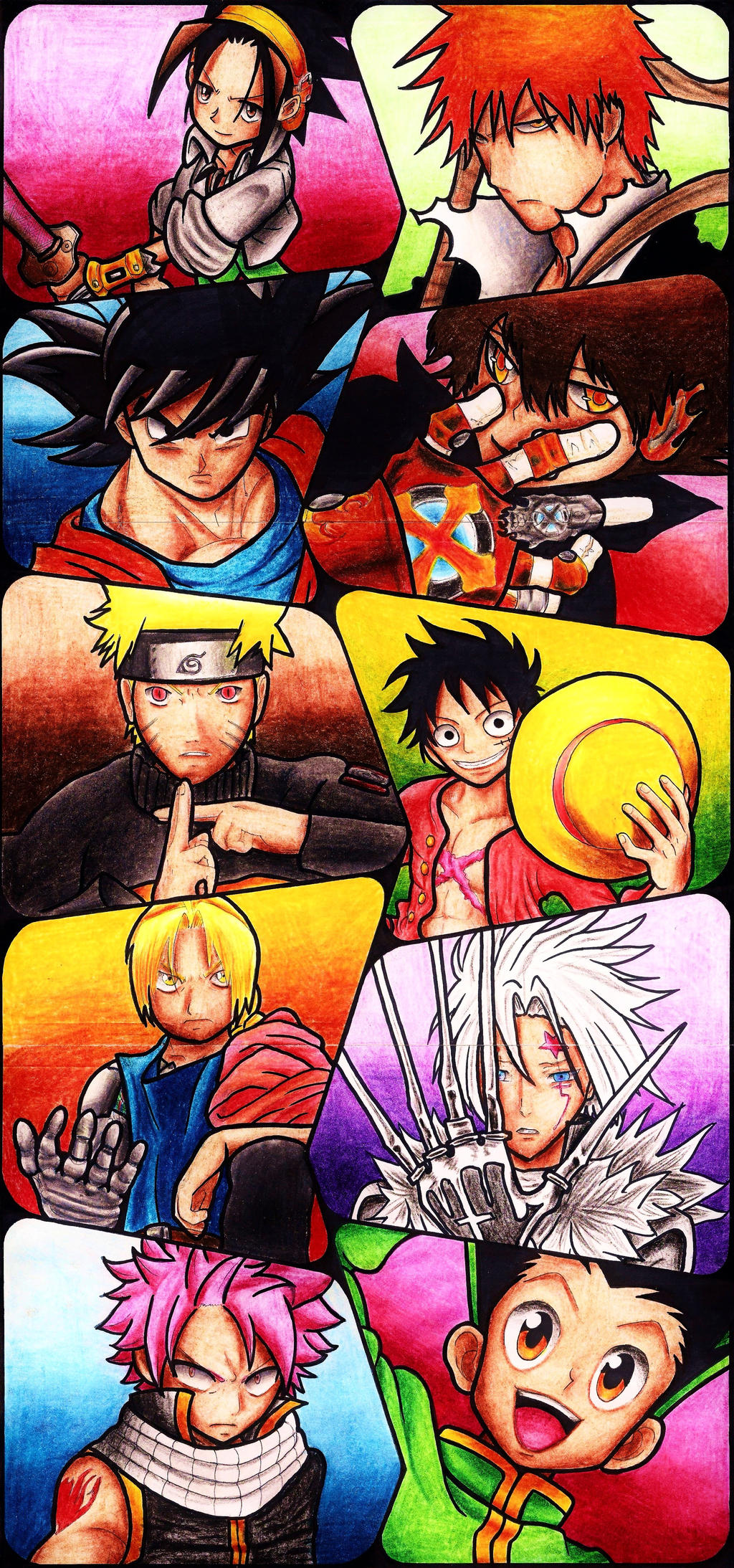 Multi Anime Main Characters By Patsurikku