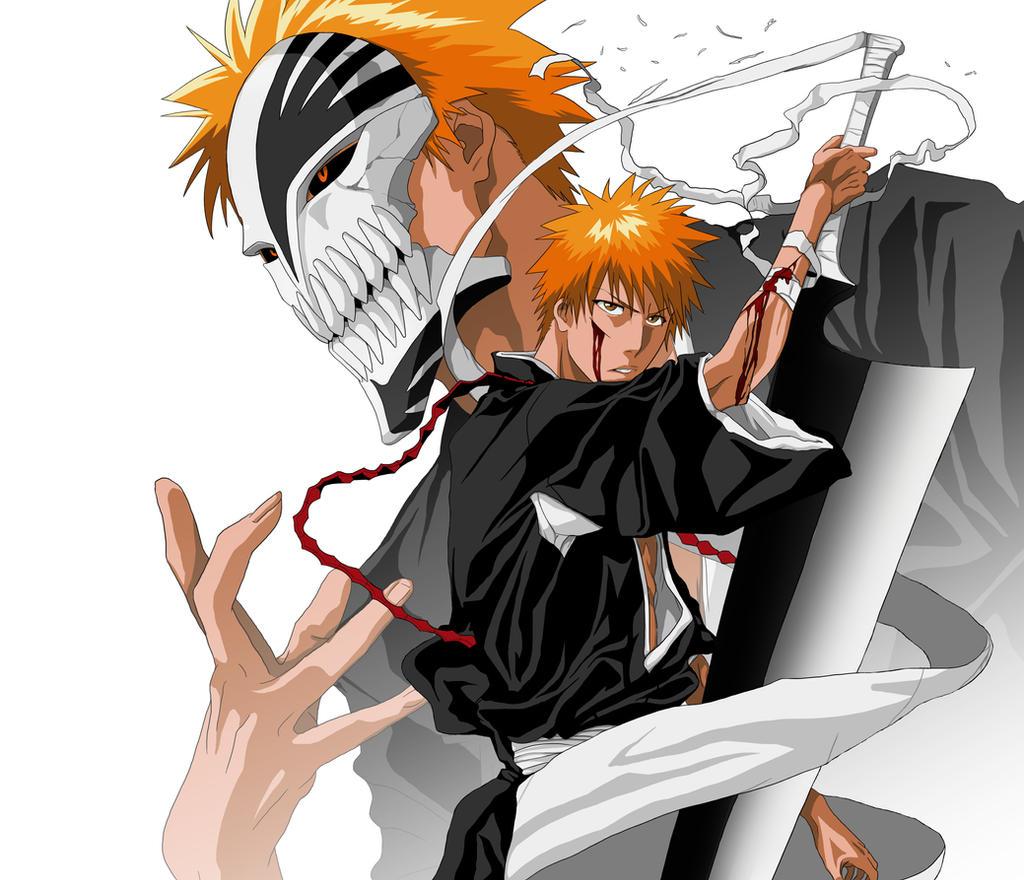 Bleach: Kurosaki Ichigo Hollow Mask/Shinigami By