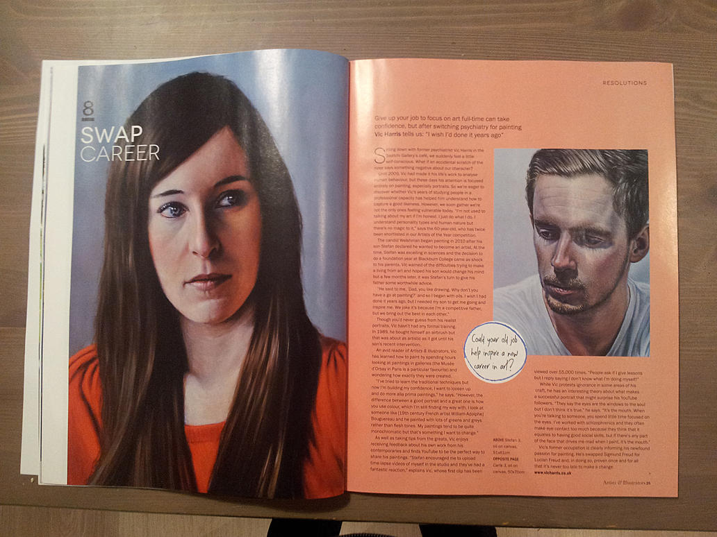 Artists and Illustrators Magazine article Jan 2015 by vicharris