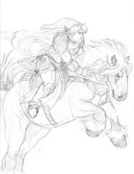 Link Horseman Epona by Sidewinder52