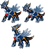 Primal Dialga - Battle Sprite by Shadowgate31