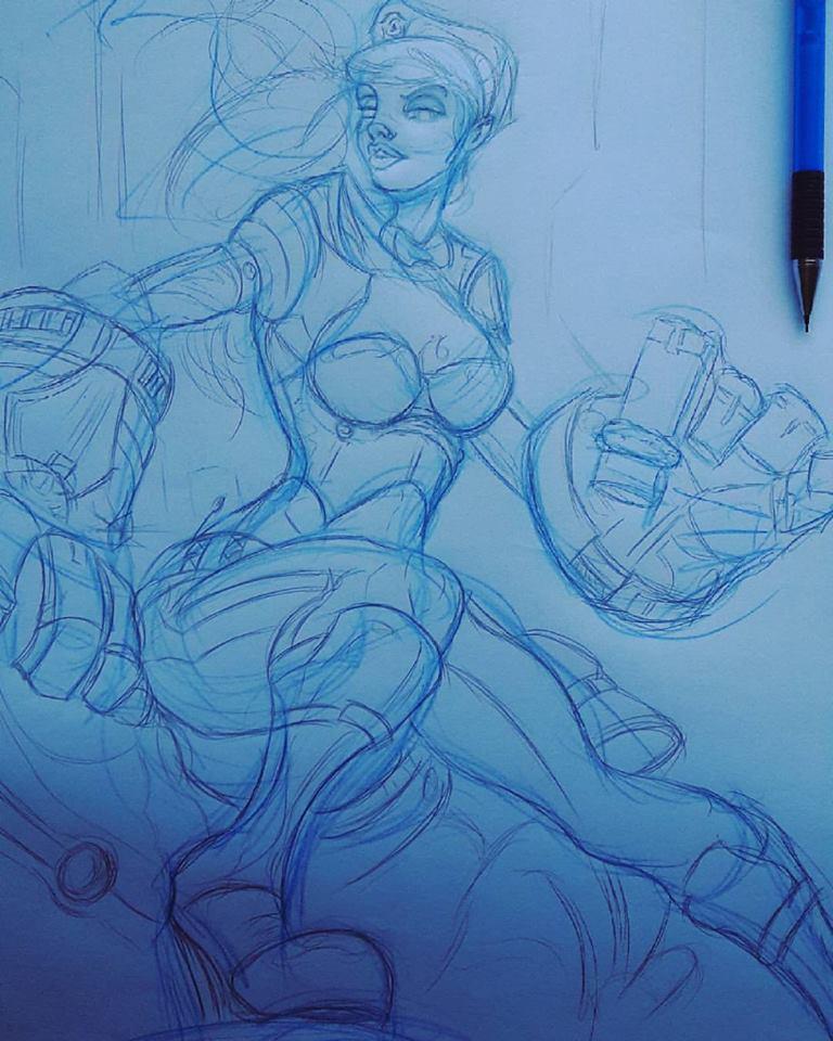 LOL VI Sketch (unfinished) by Meine-ArtxWeise