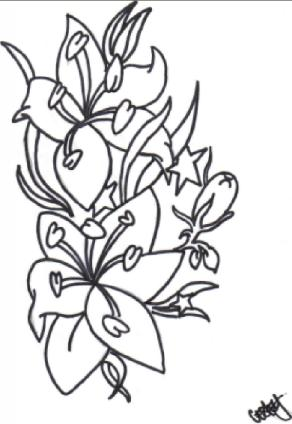 Tattoo - flower tattoo