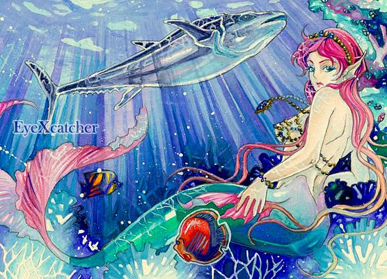 In den tropischen Bereichen des Atlantik_ACEO by Eye-X-catcher