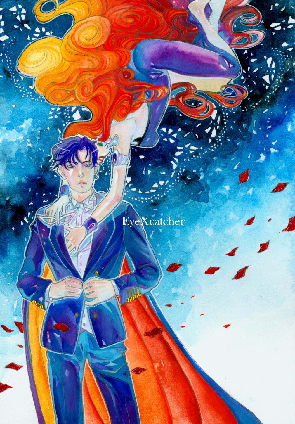 Tuxedo Mask and Perilia Fanart by EyeXcatcher by Eye-X-catcher