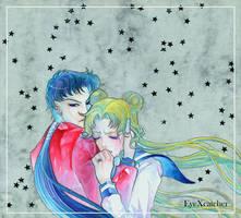 Bunny and Seiya Sailor Moon Fanart by Eye-X-catcher