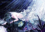 Dying mermaid ACEO by Eye-X-catcher