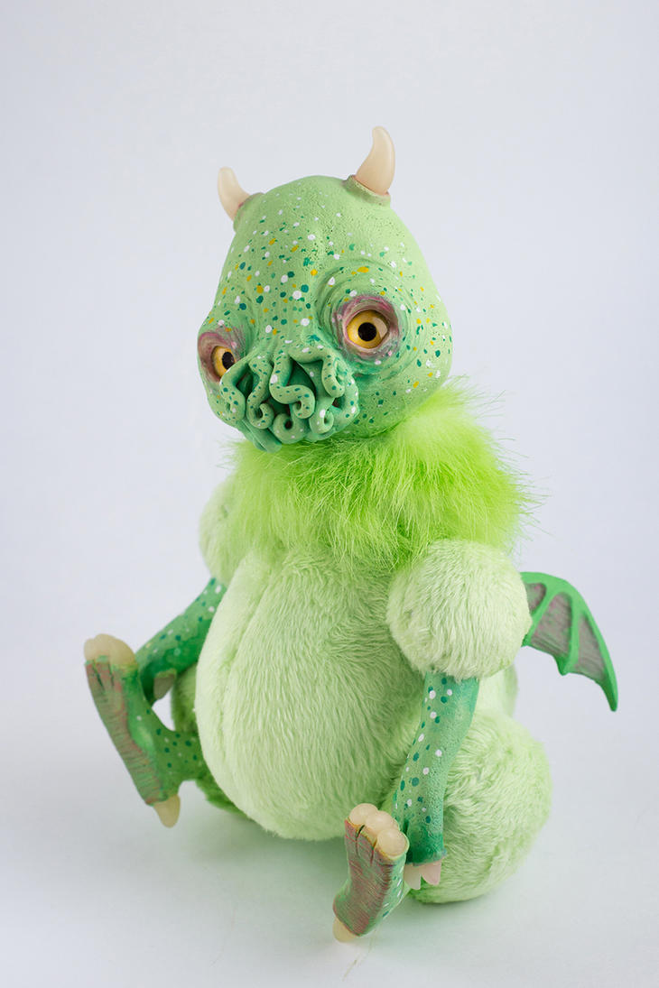 OOAK Doll Cthulhu Green Monster by Victoria-Andorina