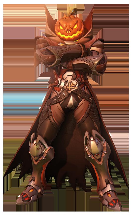 Overwatch] Reaper Halloween Pumpkin Cross Arms by Akaniya on ...