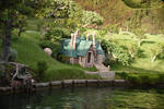 fairyhouse house cottage stock