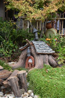 fairyhouse cottage house stock by oxygun