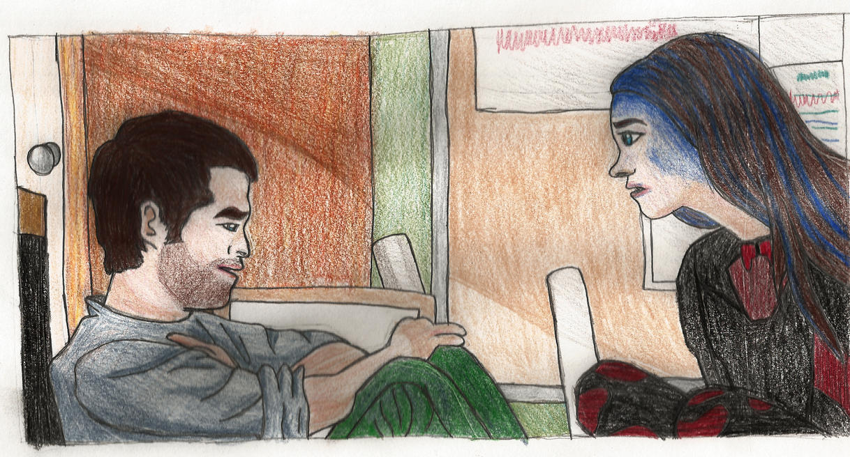 Wesley and Illyria by Squeaky-The-Duck