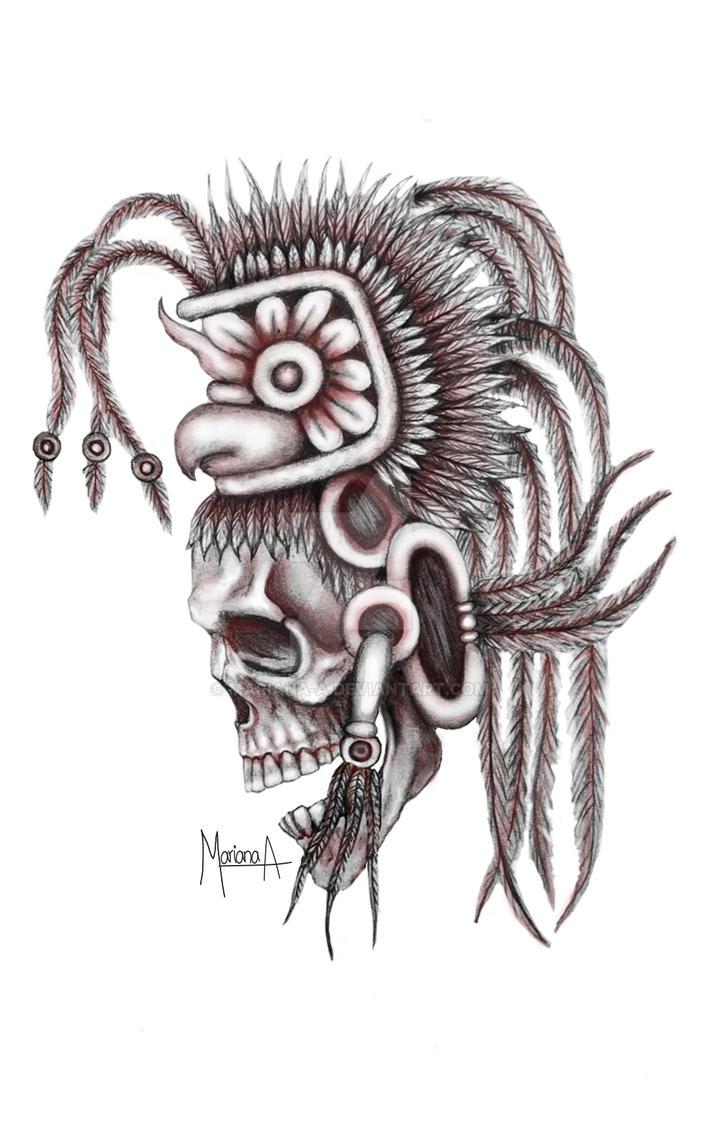 Mayan Skull by mariana-a on DeviantArt Mayan Skull Art