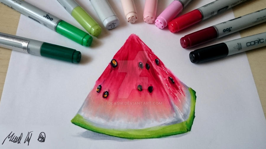 Attempting Realism With Copic Markers 2 By Dlasir On