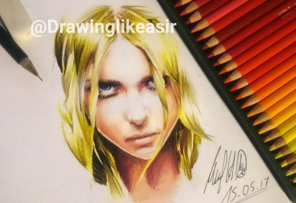 Taylor Momsen unfinished portait by DlaSir
