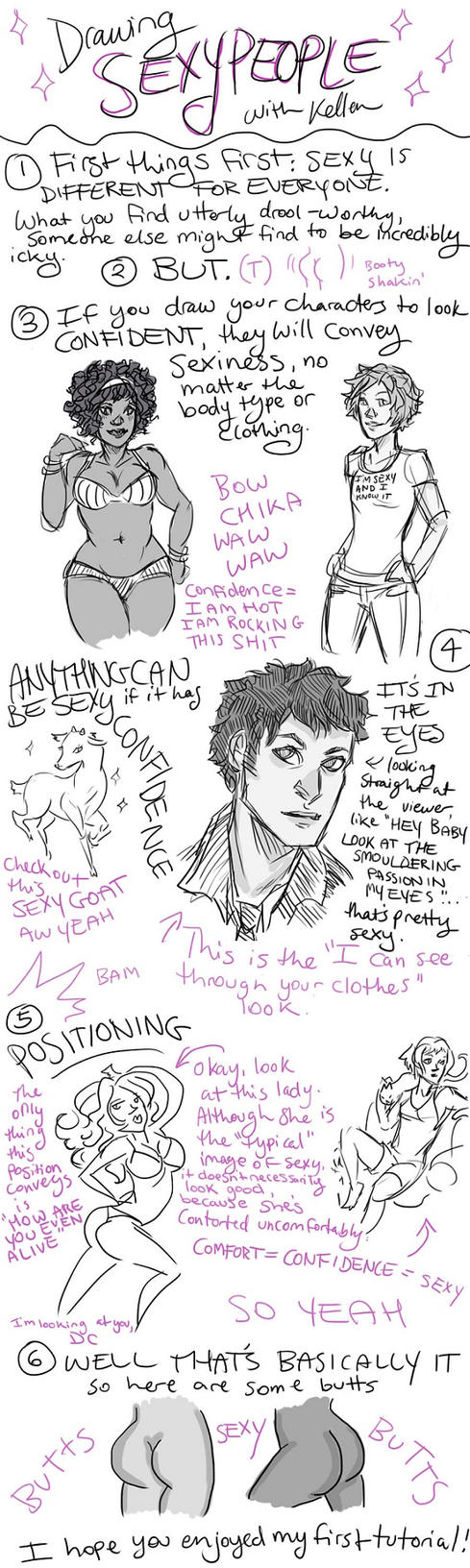 DRAWING SEXY PEOPLE: A TUTORIAL by karuhichan359