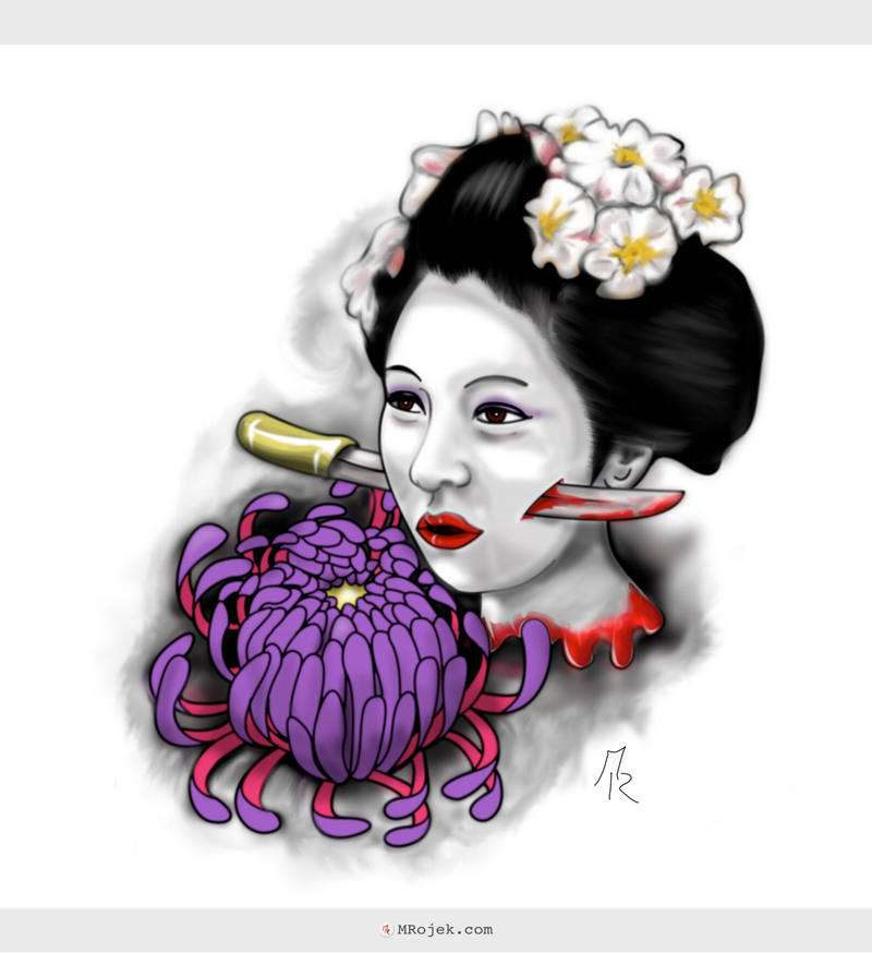 geisha tattoo by mrojekcom on deviantart. Black Bedroom Furniture Sets. Home Design Ideas