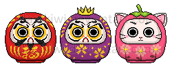 Tiny Daruma - Adoptables by glasskiwi