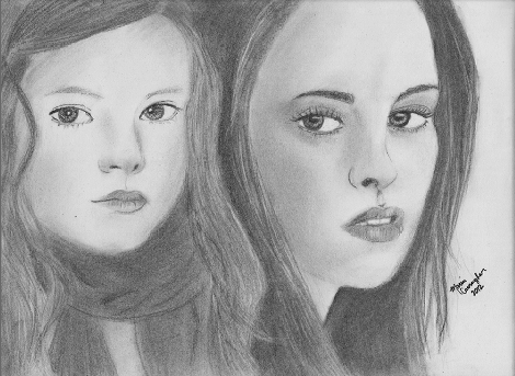 Renesmee and Bella by mariacag