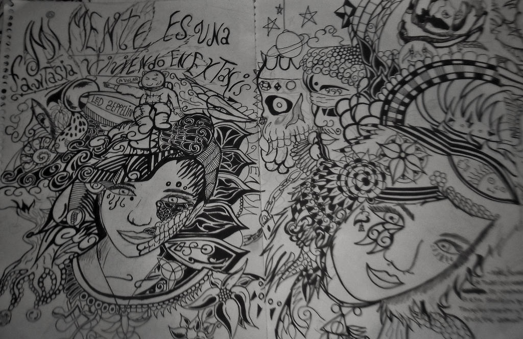 My mind is a fantasy living in extasis by ink-treatment