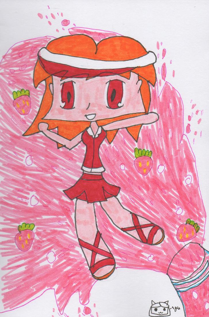 Strawberry Soda by chibby-random