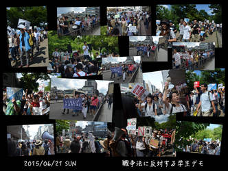 SEALDs Kansai Anti War Demo Collage by MorisatoMegumi