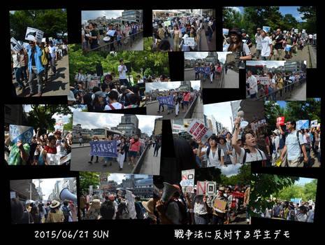 SEALDs Kansai Anti War Demo Collage