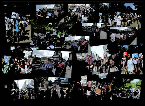 SEALDs Anti War Demo Popart Version