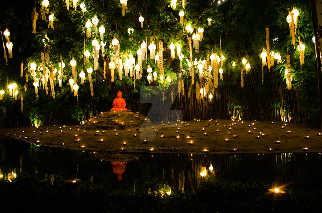 New Year at Wat Phan Tao by MorisatoMegumi