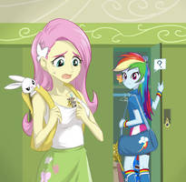 Fluttershy's new pet by Ta-Na