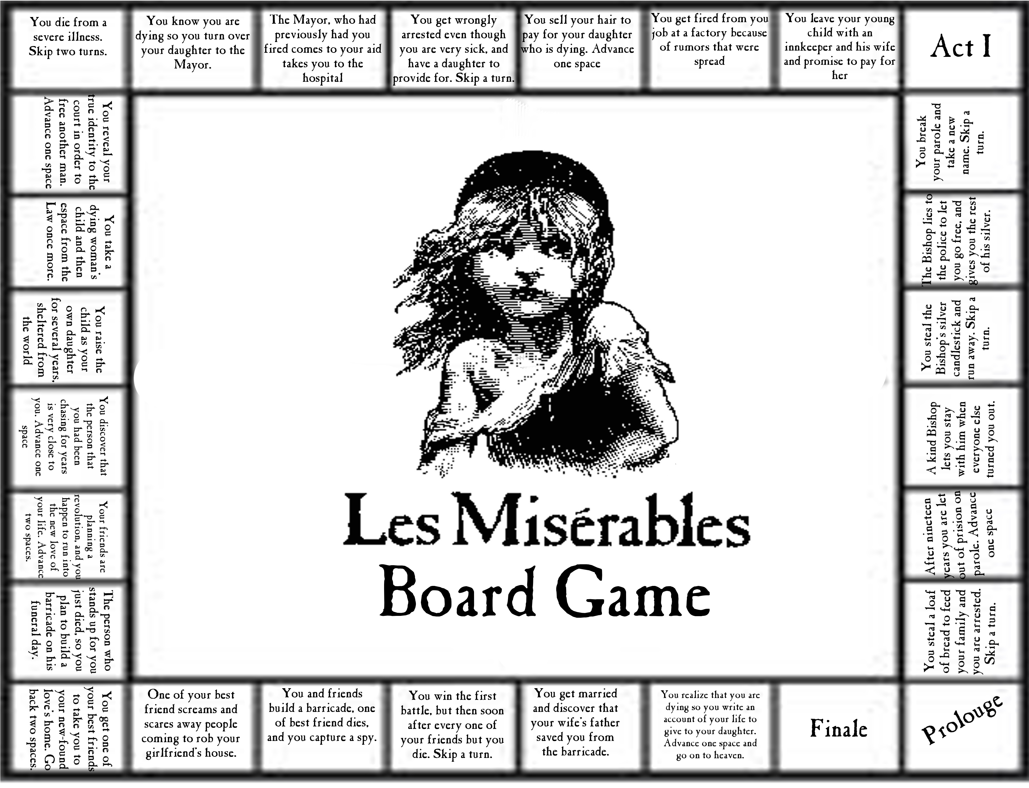 Les Miserables Board Game