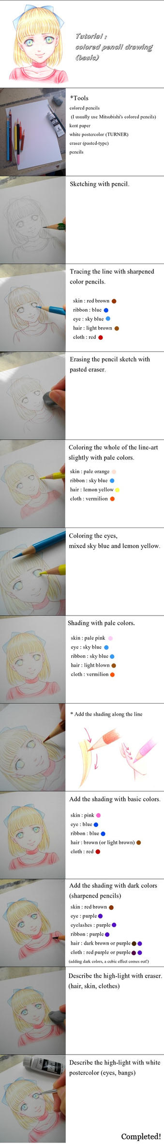 Tutorial] colored pencil drawing by Calur on DeviantArt