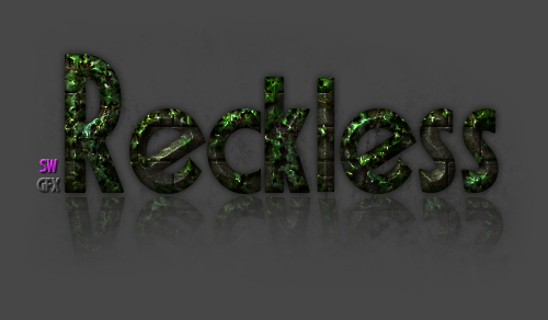 Green Jungle Nametag : Reckless by Dutcheagle