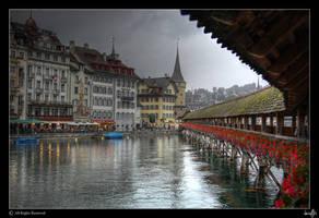 Bridge of Luzern by dessfilis