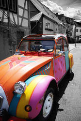 a car with flower-power by Sanyai90