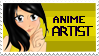 I'm an Anime Artist Stamp by InvaderMoesha