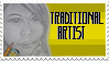 Im a Traditional Artist stamp by InvaderMoesha