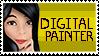 Im a Digital Painter stamp by InvaderMoesha