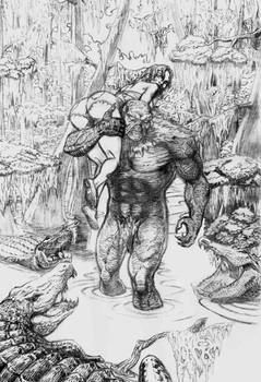 Swamp Thing and Abby (pencils)
