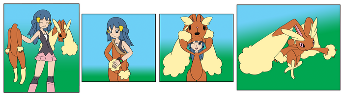 Dawn into Lopunny by TheSuitKeeper89