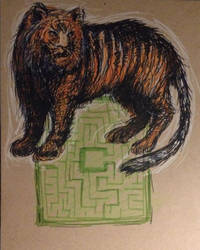 tiger in the maze by in-carnate