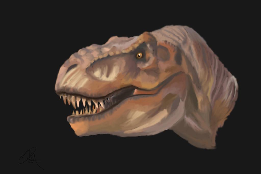 Jurassic Park T-rex Painting by yankeetrex on DeviantArt