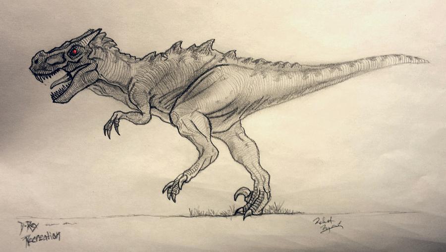 D-rex Jurassic World by yankeetrex