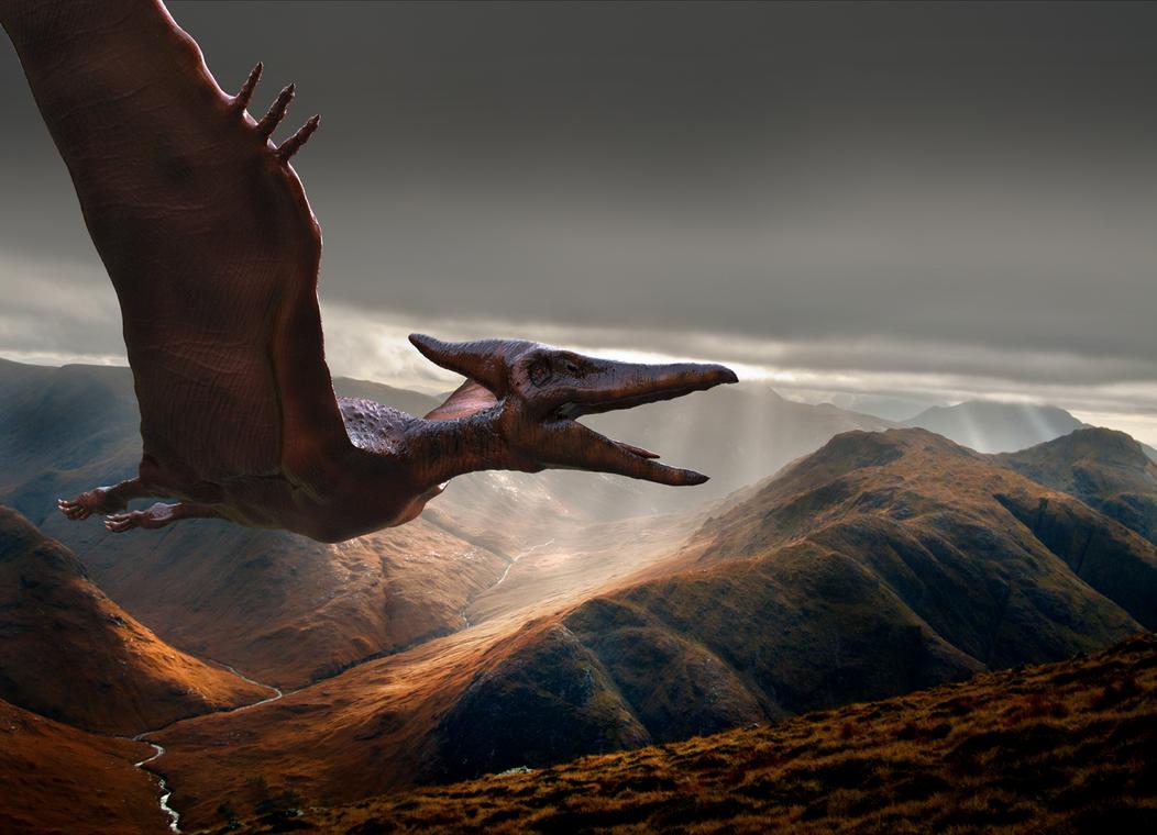 Pteranodon Skies by yankeetrex