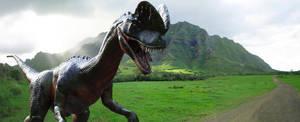 Dilophosaurus on Nublar