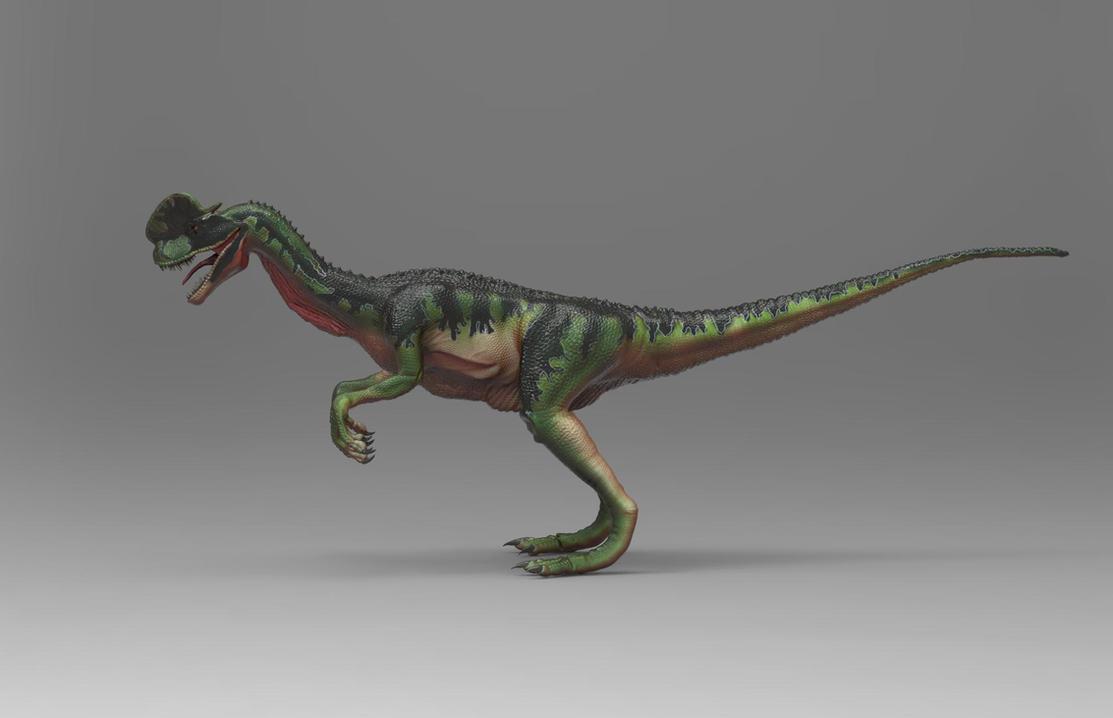 Dilophosaurus side view..... by yankeetrex
